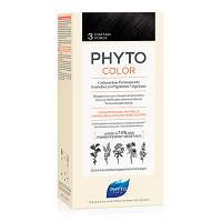 PHYTOCOLOR 3 CASTANO SCURO  COLORAZIONE PERMANENTE A BASE VEGETALE SENZA AMMONIACA 100%
