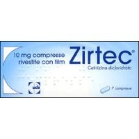Zirtec 10 mg 7 Cpr